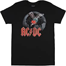AC/DC T-Shirt Fly On The Wall Concert Tour 1985 Hall Of Fame Vinyl CD Men's