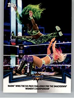 2018 Topps WWE Women's Division Memorable Matches and Moments #SDL-8 Naomi Wins the Six-Pack Challenge Wrestling Trading Card