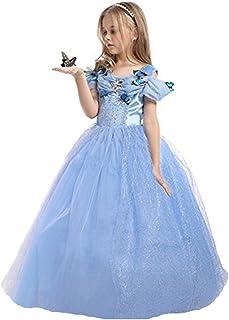 Elsa & Anna DE-FBA-CNDR5 Disfraz de princesa para ni