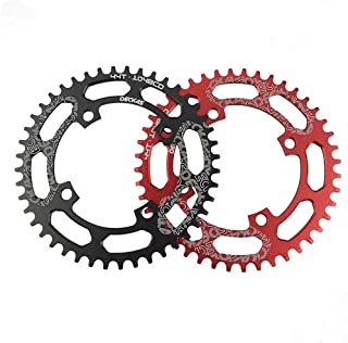COOLOH Single Chainring 40T/42T/44T/46T/48T/50T/52T 104 BCD Bike Narrow Wide Chainrings, Perfect for Most Bicycle Road Bike Mountain Bike MTB Track Fixed-Gear Bicycle