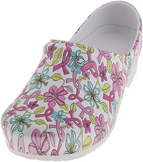 freneci Zapatos de Enfermera de Enfermería Estampados para Mujer Zapatillas de Plataforma Impermeables Sandalias