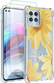 Osophter for Moto Edge S Case,Moto G100 Case with 2pcs Screen Protector Clear Transparent Reinforced Corners TPU Shock-Abs...