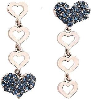 Pendientes Los pendientes asimétricos del amor son un temperamento clásico popular de la moda exquisita largo y dulce