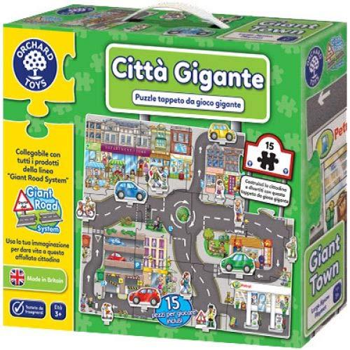 Orchard Toys - Puzzle – Ciudad Gigante, Puzzle Gigante (versión italiana).