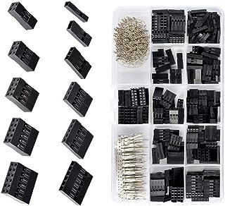CROSYO Connecteur de 620 pcs Dupont 2.54mm, kit de boîtier en en-tête de Coiffe de câble Dupont, Broches de sertissage mâl...