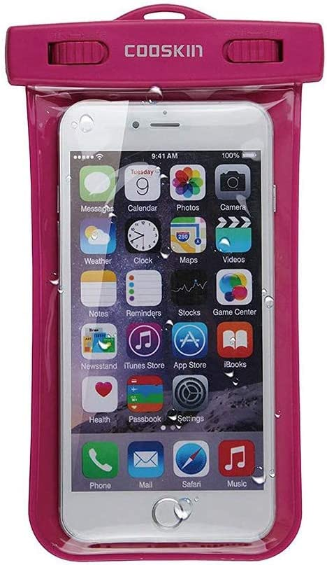 COOSKIN Universal Waterproof Case for iPhone 7S,7Plus,Cellphone Dry Bag Pouch for Apple iPhone 6S,6S Plus, Samsung Galaxy S7, S6 Note 5 4,Huawei HTC LG Sony Nokia Motorola up to 6.0