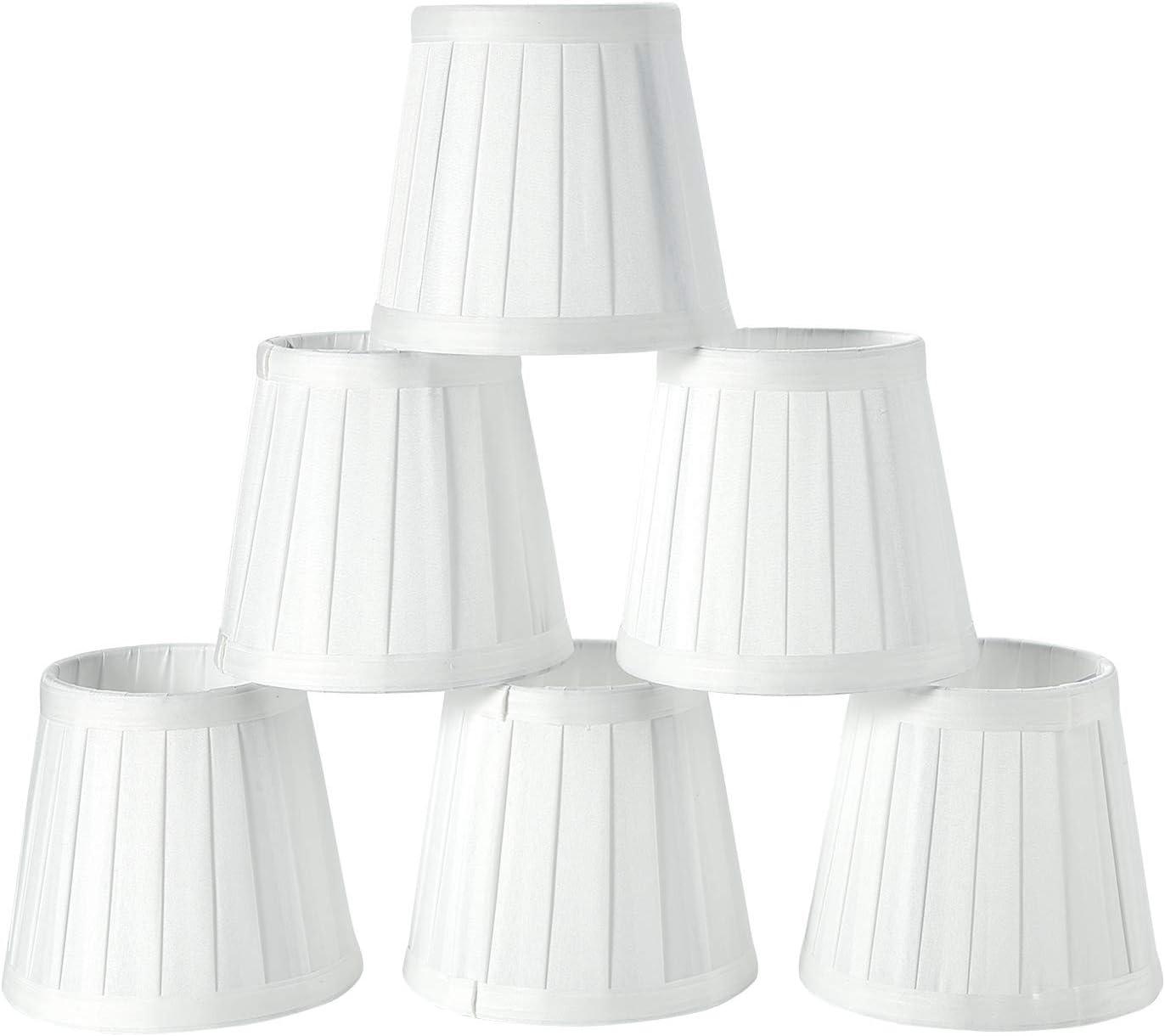 Fuloon Juego de 6 Pantallas para Lámparas Moderna para Lámpara de Araña de Cristal,Paralume Lámpara de Pared