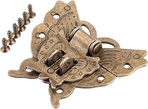 Nologo SSB-JIAOLIAN, 1st Antiek Brons Vlinder Box Buckle Haspe Latch Sieraden gemaakt Houten Kast Hak-Sluiting Kast Wijnoo...