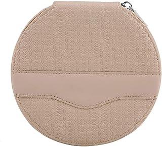 BLLBOO-CD Mini Bag-Car Universal Redondo 24 Capacidad Disco CD VCD DVD Estuche de Almacenamiento Mini Bolso Monedero(Beige)