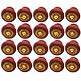 yyuezhi 2 Pcs Ronda Tiradores Vintage Muebles Armario asas pomos y tiradores puerta armario cajón armario cocina tirador asas muebles accesorios ideales para puertas de armario y cajones (Rojo)