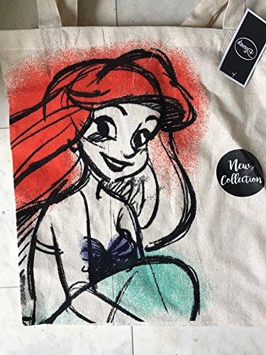 generc - Disney ~ Princesse Ariel ~ Sac fourre-tout en toile