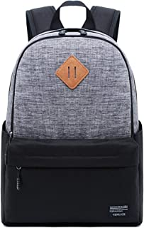 CHENDX Handbags Men's and Women's Fashion Casual Large Capacity Outdoor Travel Bag Retro Color Matching Backpack (Color : Gray, Size : 40cm*30cm*13cm)