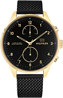 Tommy Hilfiger 1791580 Stainless Steel Round Analog Water Resistant Watch for Men - Black
