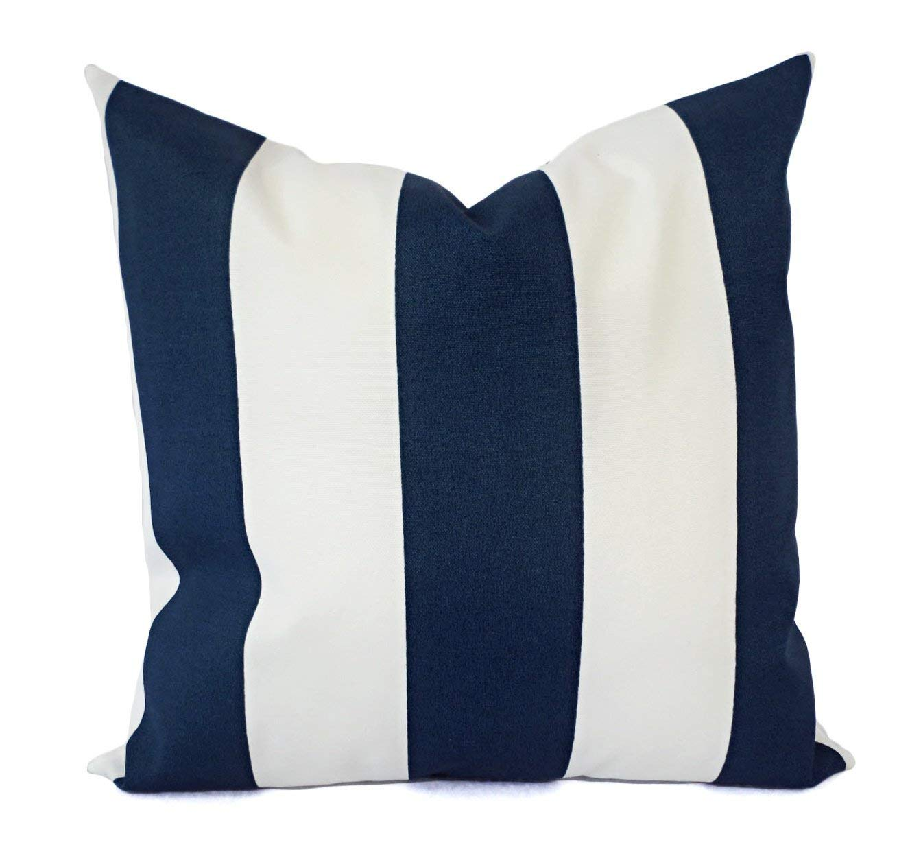 Outdoor Pillow Cover   Navy Pillow Shams   Blue Pillow Covers   Striped  Outdoor Pillow Cases   Decorative Pillows   Accent Pillows