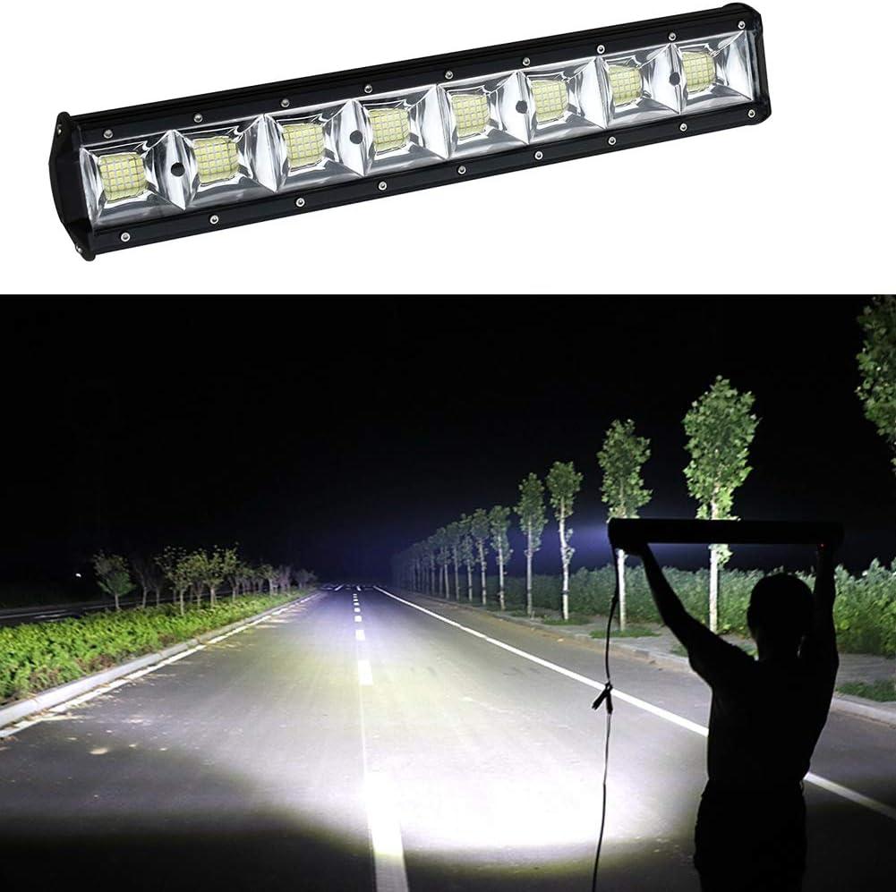 10X72W LED Work Light Bar 5 Inch Flood 7D Off Road Lights for 4WD 4x4 SUV ATV UTV Truck Fog Lamp