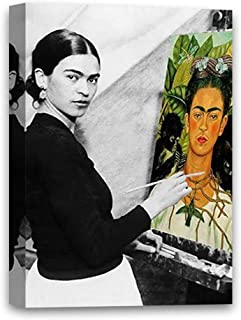 Funny Ugly Christmas Sweater Cute Frida Self-Portrait Mexican Painter Frida Kahlo Modern Painting Feminist Gifts Frida Canvas Decor Ready to Hang Poster 8