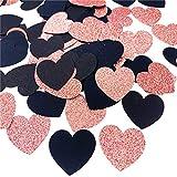 glitter paper heart confetti for valentines day gender reveal wedding decor baby shower birthday