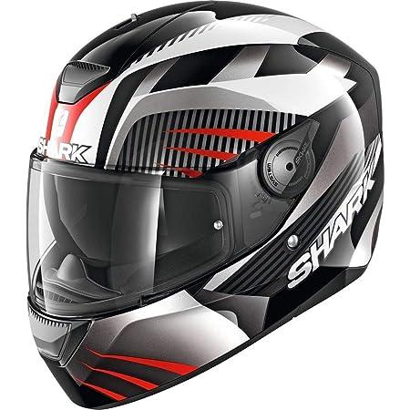 Shark Men S Nc Motorcycle Helmet Black White Red M Auto