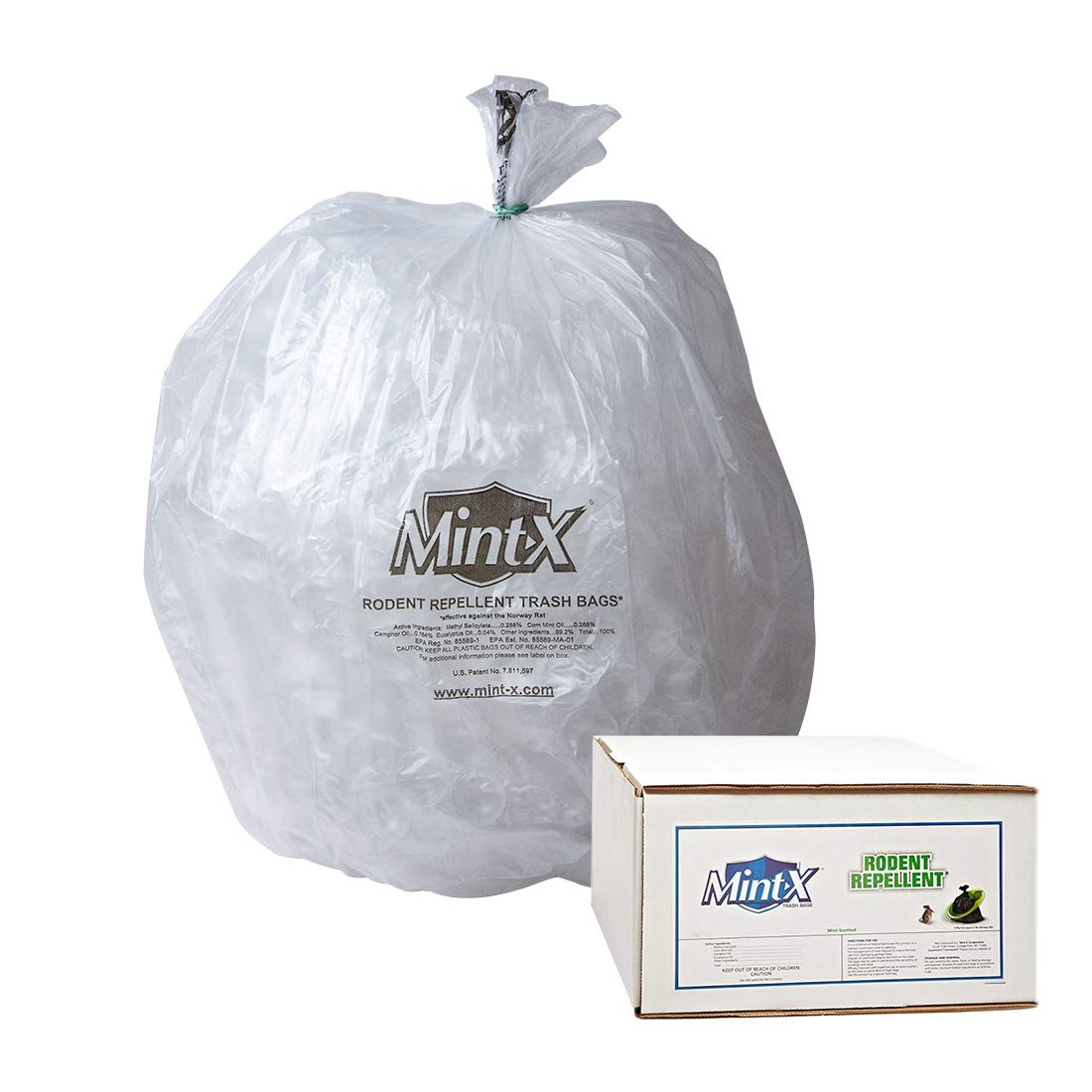 Mint-X Rodent Repellent Trash Super-cheap Bags 1.7 Flat Ranking TOP3 Mil Hei 58