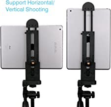 Ulanzi iPad Tablet Tripod Mount Adapter Flexible Adjustable Clamp Tablet Holder for iPad Air Pro,Microsoft Surface and Most Tablets (5inch-12inch Screen) Etc.