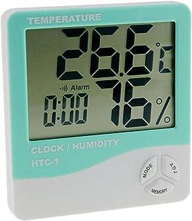 XYXZ Termómetro De Habitación Higrómetro Interior LCD Electrónico Medidor De Humedad Y Temperatura Digital Reloj Despertad...