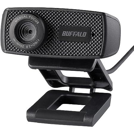 バッファロー マイク内蔵 WEBカメラ Zoom/Slack/Microsoft Teamsメーカー動作確認済 Windows/Mac対応 120万画素 HD対応 視野角63° ケーブル1.5m 在宅勤務 テレワーク ブラック BSWHD06MBK/N
