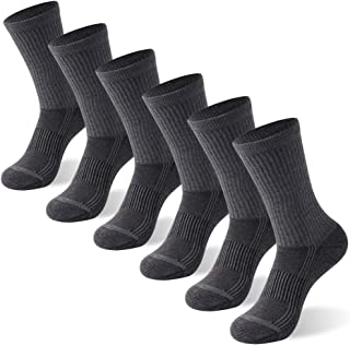Copper Antibacterial Socks, FOOTPLUS Unisex Athletic Ankle Crew Socks 3/6 Pairs