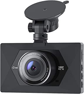 【Upgraded】 Crosstour Dash Camera for Cars 1080P Full HD Mini Dash Cam Recorder Parking Monitor, Motion Detection, Loop Recording, Super Night Vision, WDR, F1.8 Aperture,170° Wide Angle,