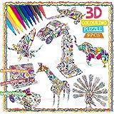 Bylark 3D Coloring Puzzle Set para Niños, Arte para Colorear Pintura...