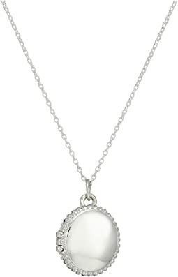 Shinola Detroit - Sterling Silver Coin Edge Locket Necklace