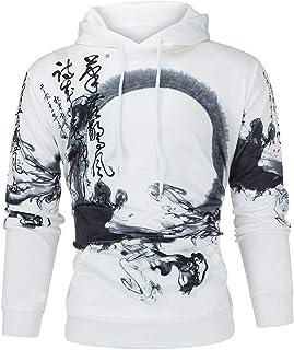 FONMA Men Women Fashion Mode 3D Print Long Sleeve Couples Hoodies Top Blouse Shirts
