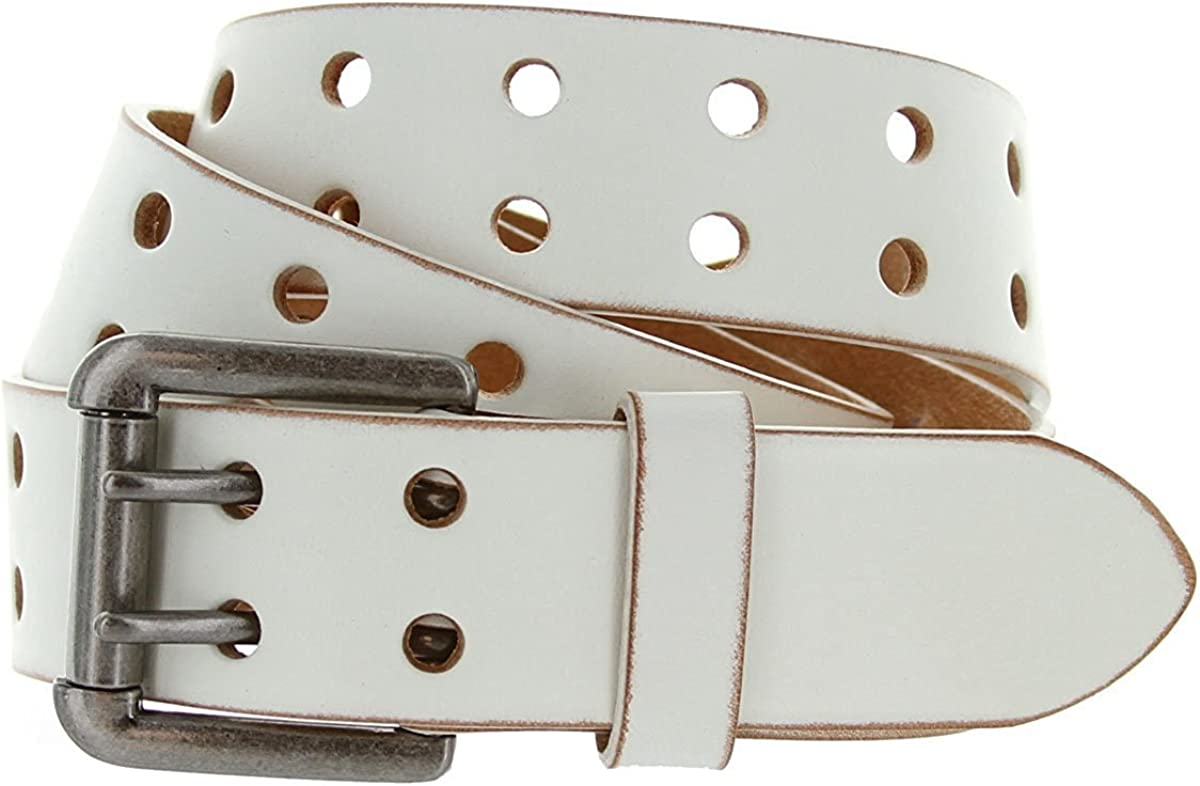 Pele Belt Max 45% OFF Seasonal Wrap Introduction Men 38 mm Wide Full Rows 2 M Soft Hole Prong Cowhide