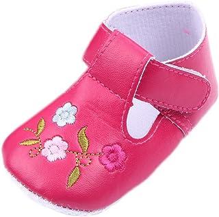 [つきハス] Yuelian(TM) ベビーシューズ 花刺繍 キッズスニーカー ファーストシューズ 軽量タイプ 子供靴 入学 通学 入園式