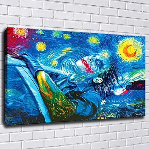 lihuaiart Canvas Wall Art Home Wall Decorations for Bedroom Living Room Oil Paintings Canvas Prints Van gogh,Joker 24x36inch (Unframed)