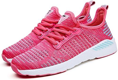 RENMEN Sommer Licht Breathable Paar Schuhe Outdoor Größe Größe Casual Flut Schuhe Mode Sport Laufschuhe 36-45, Rosa rot