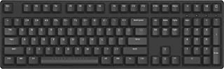 iKBC W210 Wireless Mechanical Keyboard with Cherry MX Blue Switch for Windows and Mac OS, Enables Media Key and LED Indicator (2.4G Dongle, USB 2.0, PBT Double Shot 108 Keycaps, Black Color, ANSI/US)