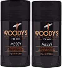 Woodys Messy Firm Hold Matte Stick Wax - 2.6oz (Set of 2)