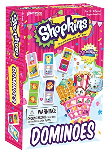 Shopkins 28 pc Urea Dominoes Box