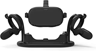 AMVR VR Stand,Headset and Touch Controller Display Station for Magnetic Charging Oculus Quest
