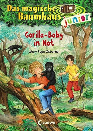 Das magische Baumhaus junior 24 - Gorilla-Baby in Not: Kinderbuch zum Vorlesen und ersten Selberlesen - Mit farbigen Illustrationen - Für Mädchen und Jungen ab 6 Jahre