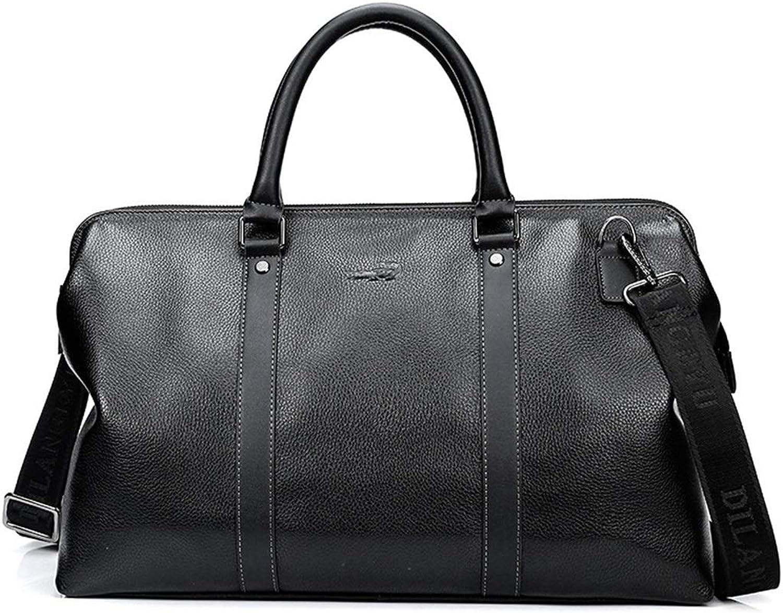 Business Casual Travel Bag Tote Bag Large Capacity Shoulder Bag Messenger Gym Bag (color   Black)