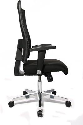Topstar 959T T200 - Silla de Oficina con reposabrazos, Color Negro [Importado de Alemania