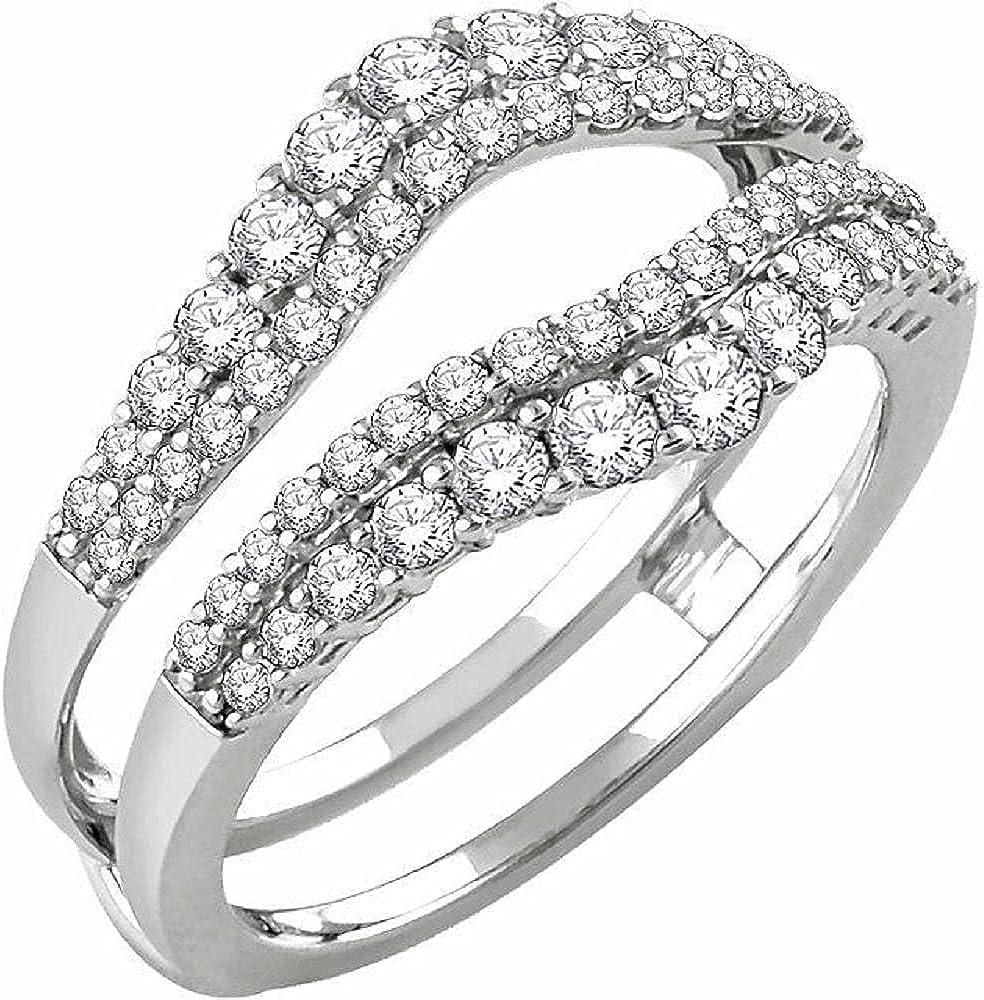 Max 87% Max 66% OFF OFF Ismatara Round Cut White Diamond 14K G Silver Sterling 925