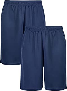 Men's Light Loose Fit Sports Shorts with Pockets (2 Pack)