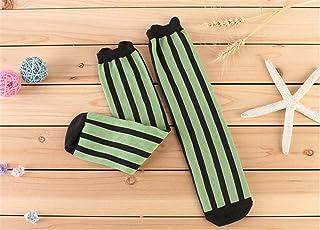 Swallowuk, Swallowuk - Calcetines Largos,Calcetines de algodón,Calcetines Largos para Bebé Niñas Niños (42CM, Verde)