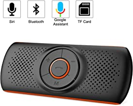 Aigoss Handsfree Bluetooth for Cell Phone, Car Bluetooth Speakerphone Kit with Siri and Google Assistant,2 Phones Connection Simultaneously