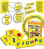 Q honey Flash Cards de Monos para Niños | hasta 3 Fichas con Cada Letra, 10 Números, 7 Colores del Arcoíris | Abecedario para Niños | Aprende el ABC con Juegos Educativos (1. Español)