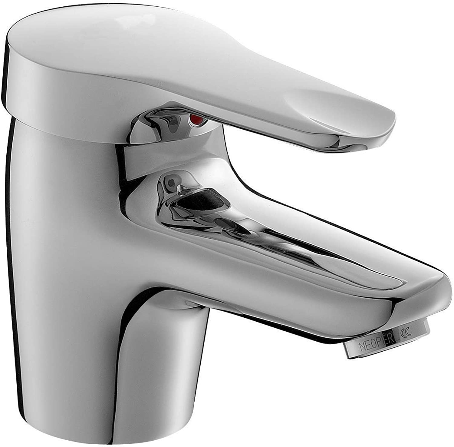 Jacob Delafon E660-CP Single-Hole Sink Mixer Tap with Power Supply Hoses and Waste