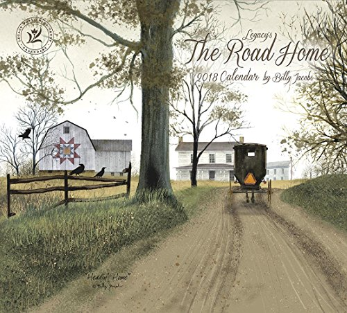 Legacy Publishing Group 2018 12-Month Wall Calendar, The Road Home