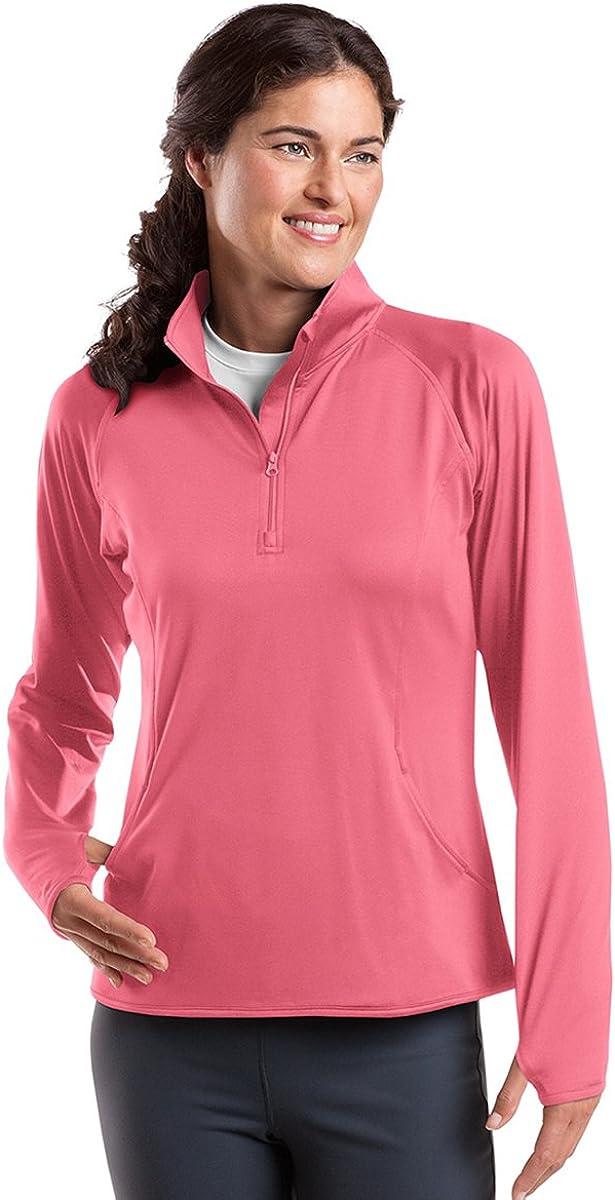 SPORT-TEK Women's Sport Wick Stretch 1/2 Zip Pullover